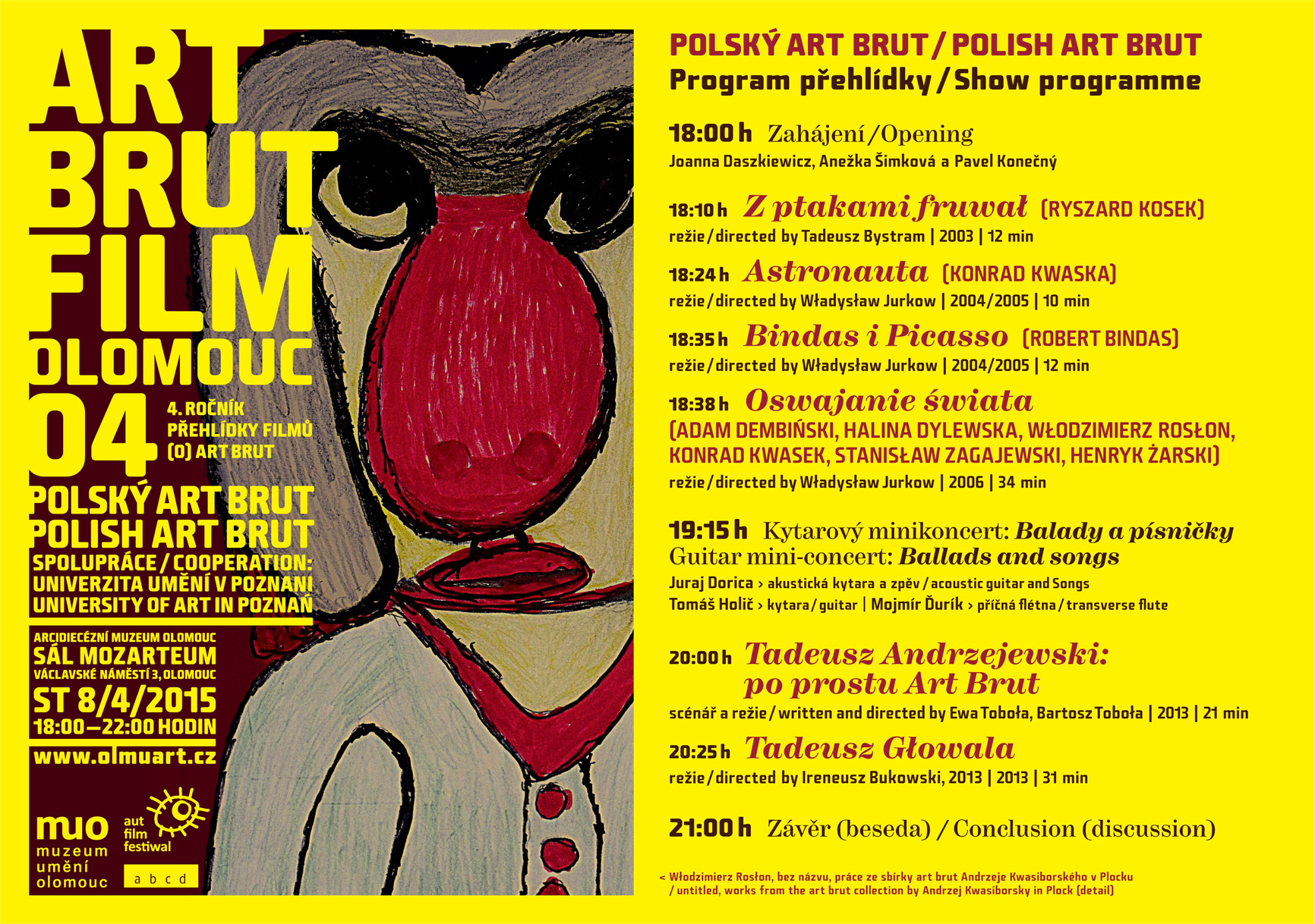 ART BRUT FILM 04 - Olomouc 2015 - program